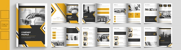 Modèle de catalogue ou de brochure d'entreprise moderne