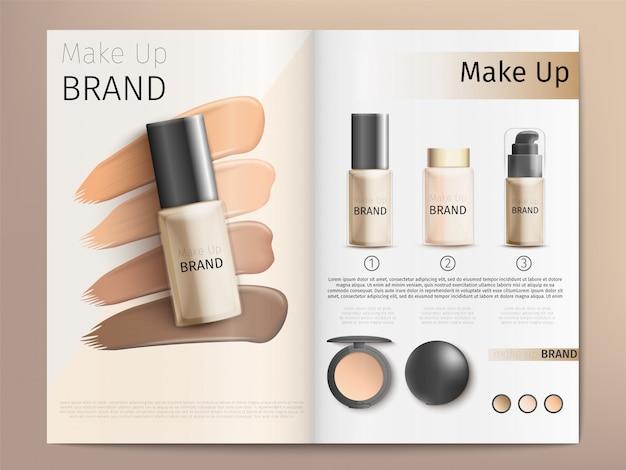Modèle de catalogue ou de brochure de produits cosmétiques