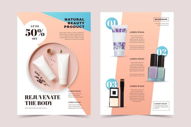 Modèle de catalogue de produits de beauté de couleur dégradée