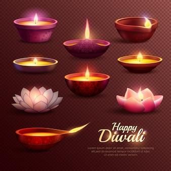 Modèle de célébration diwali