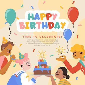 Modèle de célébration de joyeux anniversaire