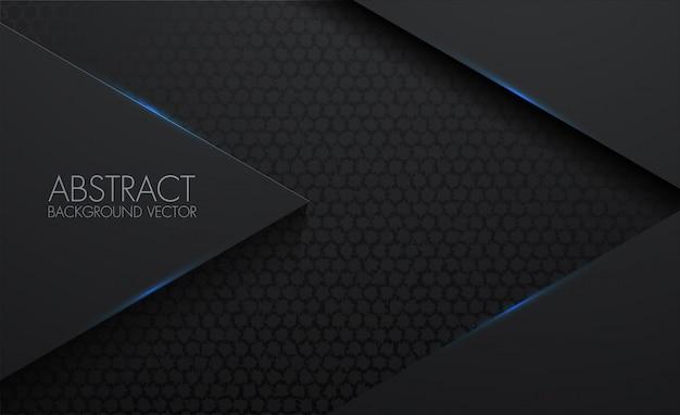 Modèle de cercle abstrait 3d fond noir