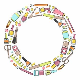 Modèle de cercle de manucure et prdicure.