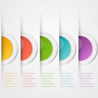 Modèle de cercles abstraits vectoriel. objet web