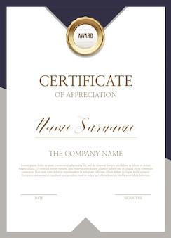 Modèle de certificat d'appréciation