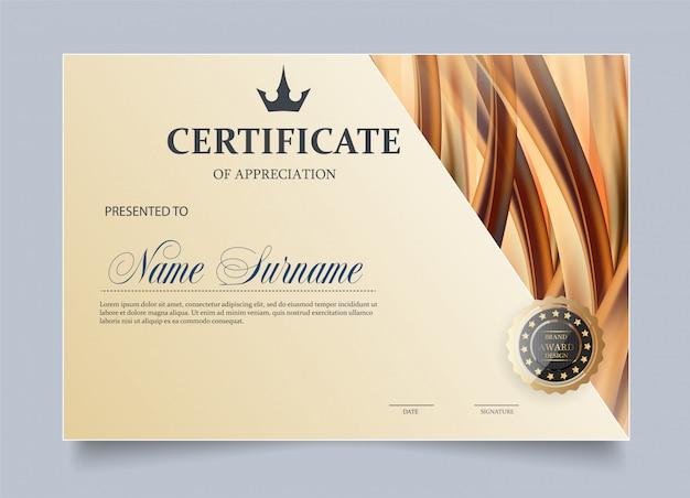 Modèle de certificat d'appréciation.