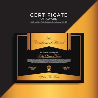 Modèle de certificat d'attribution