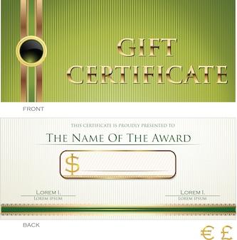 Modèle de certificat cadeau