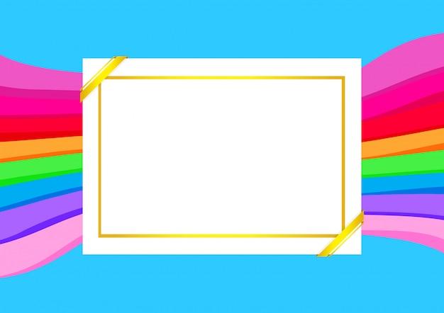 Modèle de certificat avec cadre doré sur fond coloré