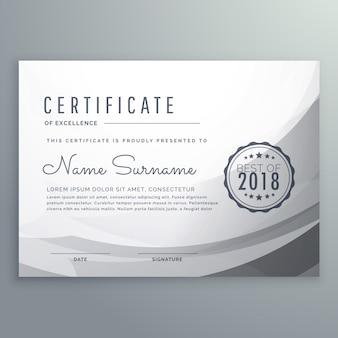 Modèle de certificat de certificat de certificat gris propre
