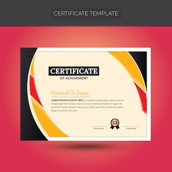 Modèle de certificat coloré design