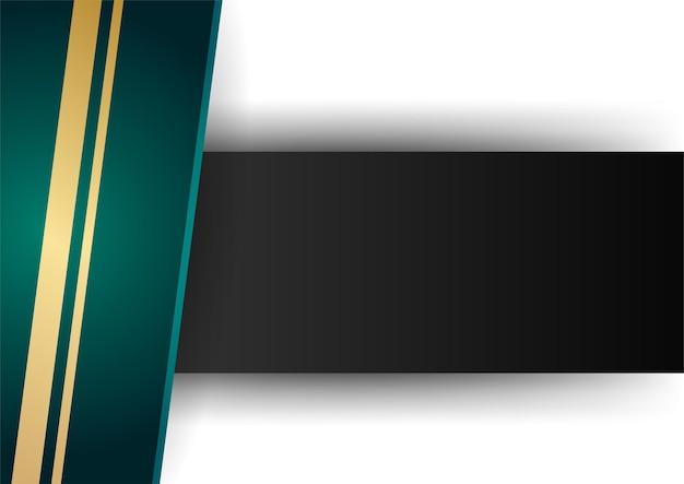 Modèle de certificat de couleur dégradé de fond géométrique abstrait vert et or. costume pour fond de présentation, bannière, affiche, dépliant, couverture, carte de visite et bien plus encore