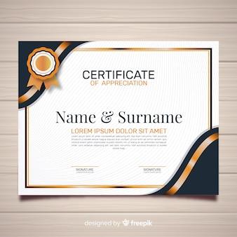 Modèle de certificat de création