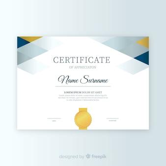 Modèle de certificat dans un style abstrait