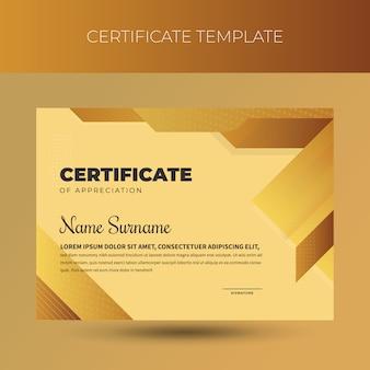 Modèle de certificat de diplôme professionnel