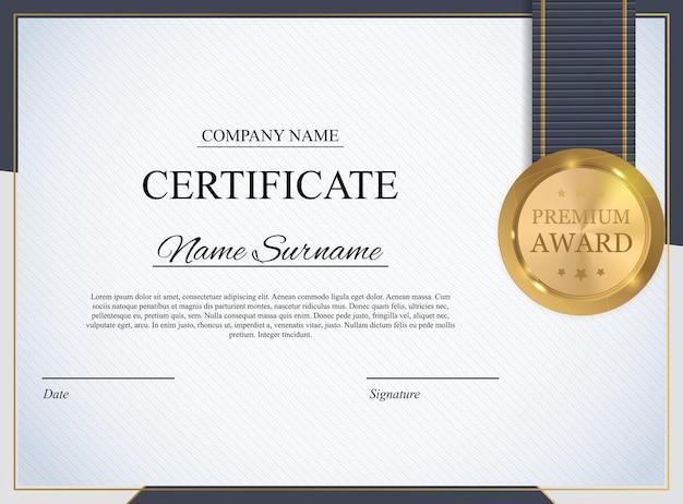 Modèle de certificat. diplôme de récompense