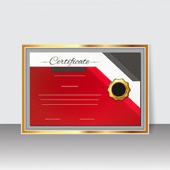 Modèle de certificat ou diplôme vierge design avec timbre de gloden.