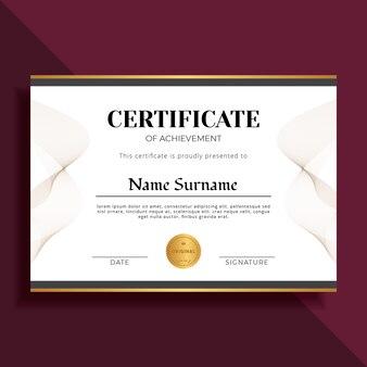 Modèle de certificat élégant et professionnel