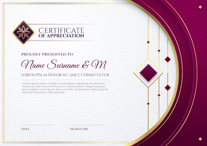 Modèle de certificat d'entreprise