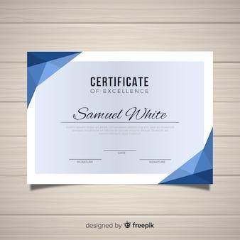 Modèle de certificat d'excellence