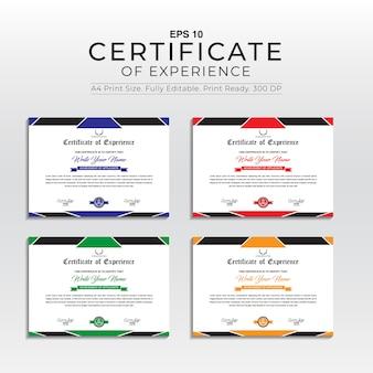 Modèle de certificat d'expérience