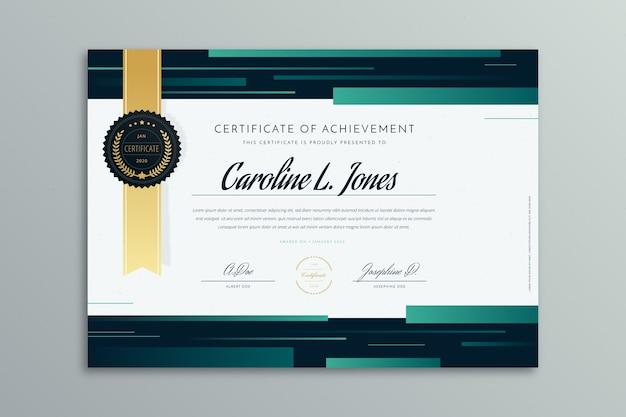Modèle de certificat géométrique abstrait