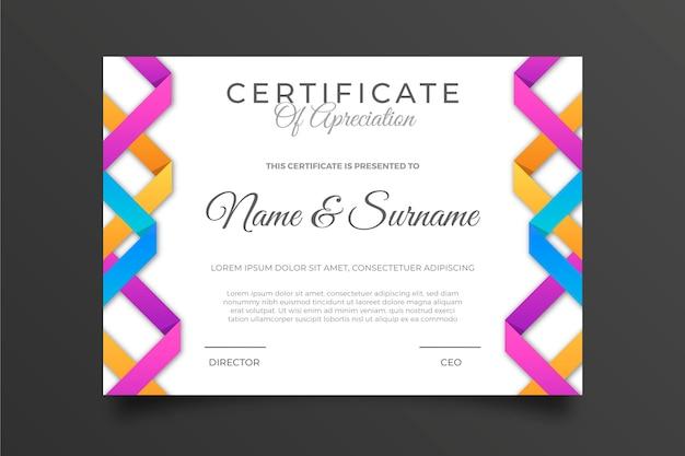 Modèle de certificat géométrique multicolore