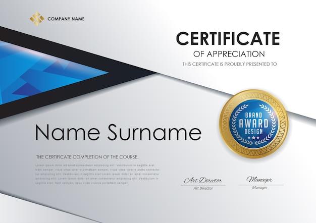 Modèle de certificat de luxe