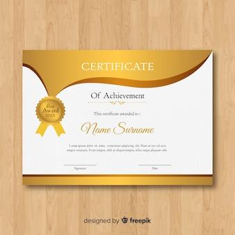 Modèle de certificat en or