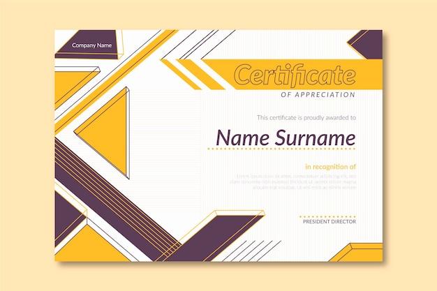 Modèle de certificat plat moderne