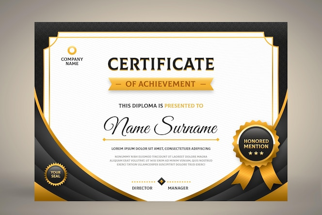 Modèle de certificat plat