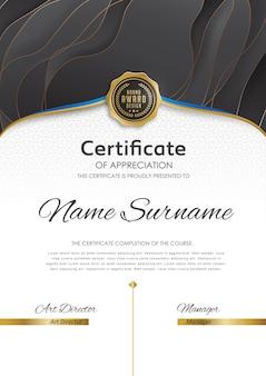 Modèle de certificat premium