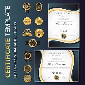 Modèle de certificat professionnel avec badge