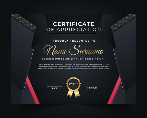 Un modèle de certificat professionnel créatif et unique