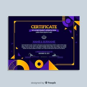 Modèle de certificat professionnel