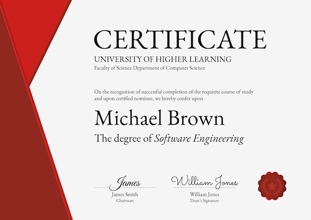 Modèle de certificat de récompense professionnelle en conception abstraite