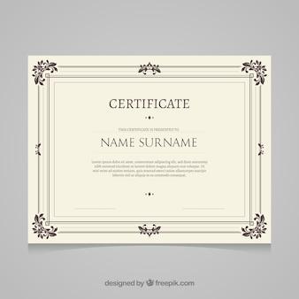Modèle de certificat rétro