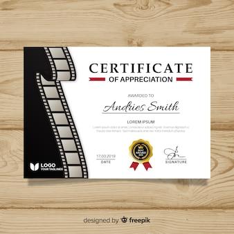 Modèle de certificat de réussite