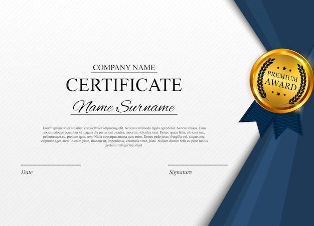 Modèle de certificat avec sceau