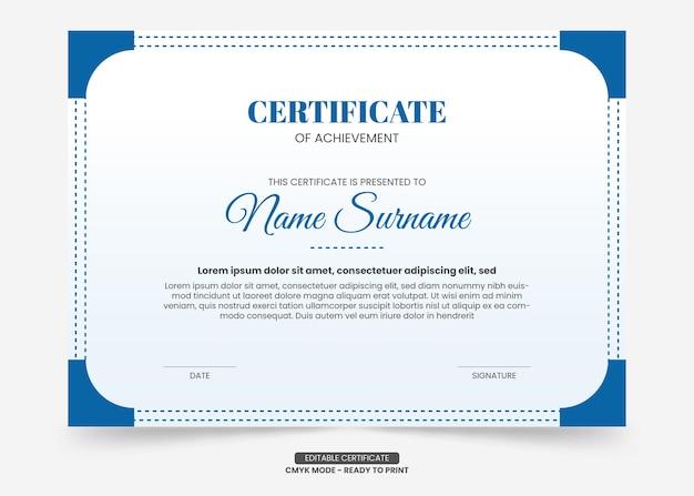 Modèle de certificat simple et moderne