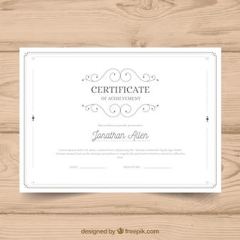 Modèle de certificat avec style vintage