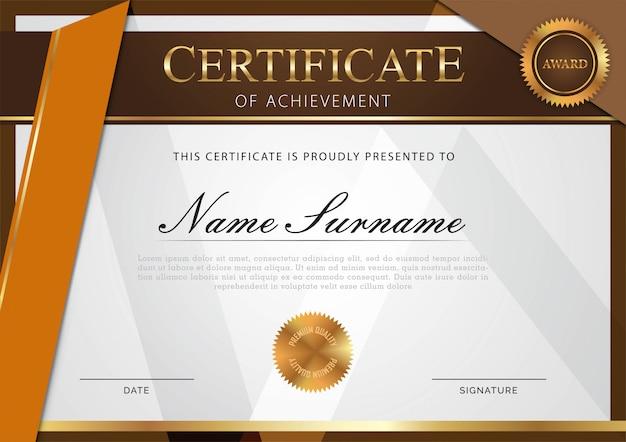 Modèle de certificat