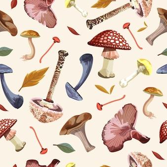 Modèle de champignon dessiné à la main