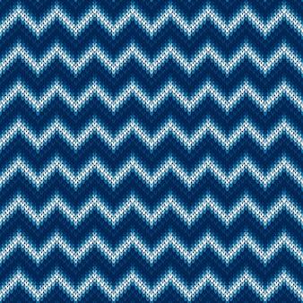 Modèle de chandail tricoté à chevrons