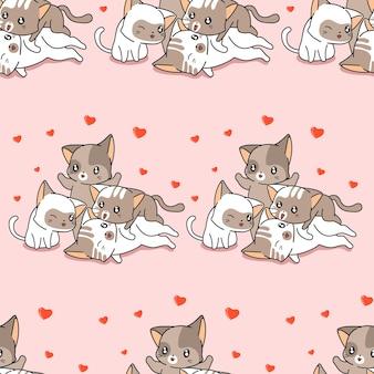 Modèle de chat de famille sans couture