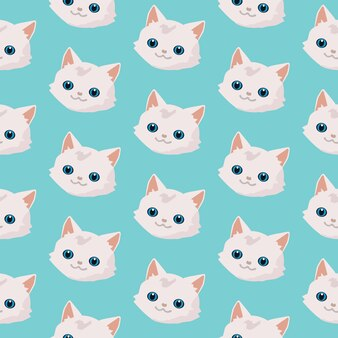 Modèle avec des chats mignons.