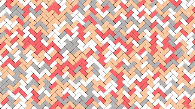 Modèle de chaussée pavée de tuiles. carreaux de rue en mosaïque géométrique de couleur.