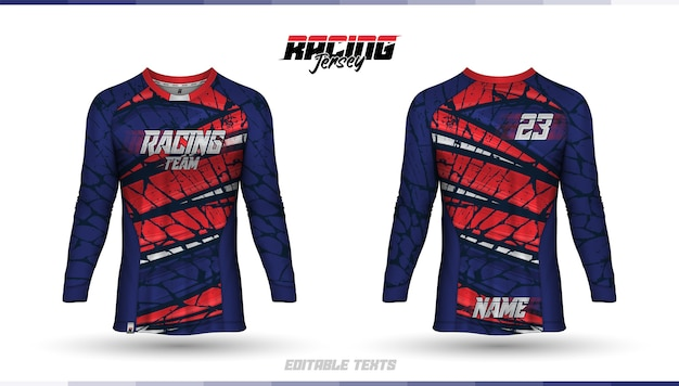 Modèle de chemise, conception de maillot de course, maillot de football