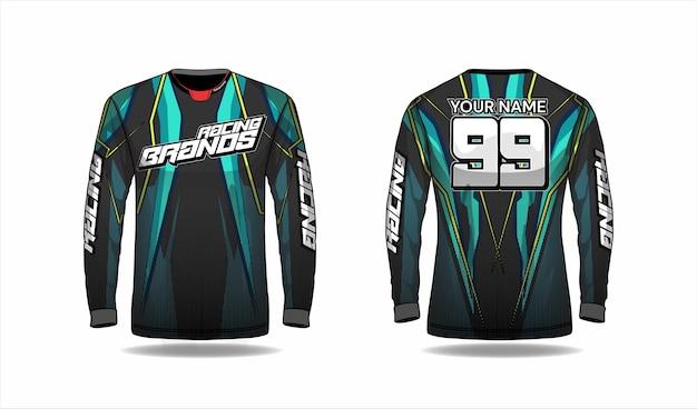 Modèle de chemise de motocross, conception de maillot de course