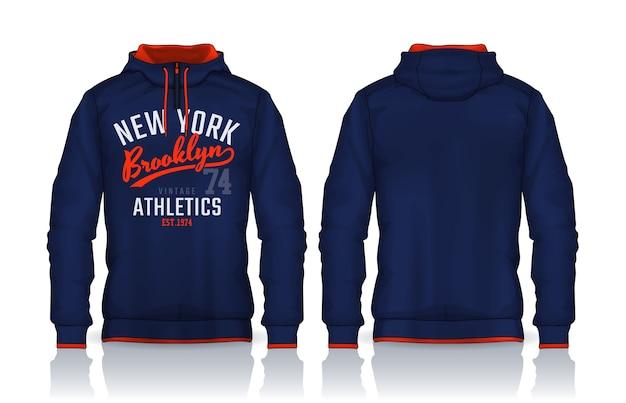 Modèle de chemises à capuche.jacket design, sportswear track vue avant et arrière.